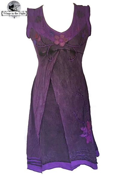 Bares Hippy Purple Sleeveless Summer Dress