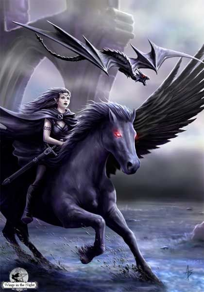 Anne Stokes Realm of Darkness Greeting Card
